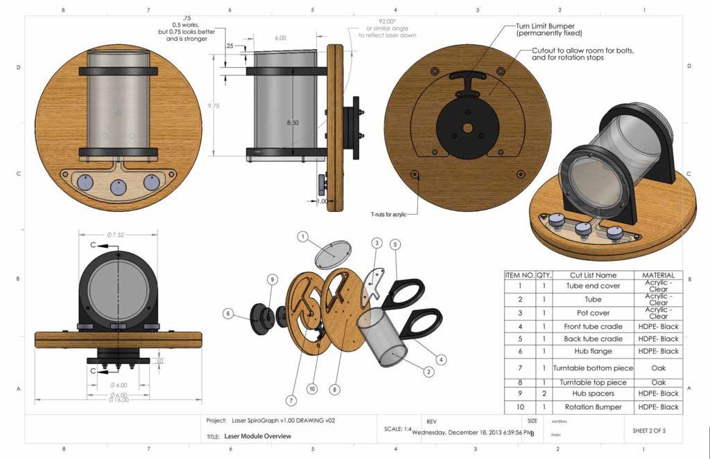 Laser SpiroGraph v1.00 DRAWING v02